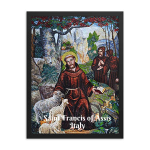 Enhanced Matte Paper Framed Poster (in) - Saint Francis of Assisi - Italy - Christianity IMAGES OF GOD