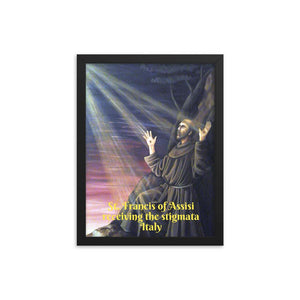 Enhanced Matte Paper Framed Poster (in) - Saint Francis of Assisi receiving the stigmata - Italy - Christianity IMAGES OF GOD