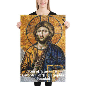 Enhanced Matte Paper Poster (in) - Icon of Jesus Christ from the Cathedral of Hagia Sophia - Christianity IMAGES OF GOD