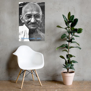 Enhanced Matte Paper Poster (in) - Mahatma Gandhi - India IMAGES OF GOD