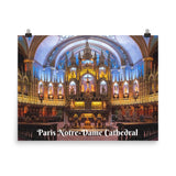 Enhanced Matte Paper Poster (in) - Paris Notre-Dame Cathedral - Christianity IMAGES OF GOD