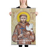 Enhanced Matte Paper Poster (in) - Saint Francis of Assisi - Italy - Christianity IMAGES OF GOD