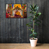 Framed matte paper poster- The 14th Dalai Lama - Tenzin Gyatso - from Tibet, in exile in India - Tibetan Buddhism IMAGES OF GOD