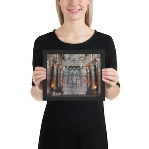 Framed photo paper poster - Ajanta Cave #25 in Maharashtra, India - Ancient  Buddhist monastery  IMAGES OF GOD