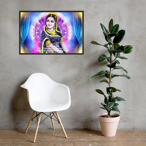 Framed poster -  Goddess Radha - Companion of Krishna, symbol of Love, Humility and Loyalty IMAGES OF GOD
