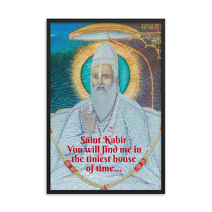 Framed poster  - Saint Kabir - Bhakta and  mystic poet with a huge influence on India - Hinduism and Islamic IMAGES OF GOD