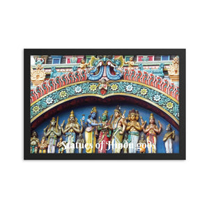 Framed poster -  Statues of Hindu gods - entrance to a Hindu temple IMAGES OF GOD