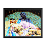 Framed poster - Christian mosaic Jesus and Virgin Mary IMAGES OF GOD
