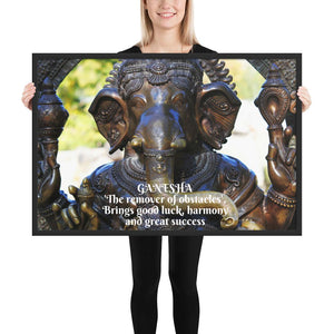 Framed poster - Ganesh God of success - Hinduism IMAGES OF GOD