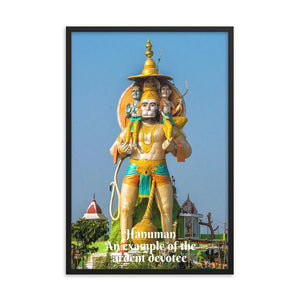 Framed poster - Hanuman - An example of the ardent devotee - an incarnation of Lord Shiva. IMAGES OF GOD