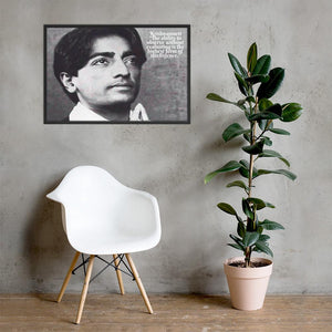 Framed poster - Jiddu Krishnamurti - Independent Spiritual Master - India IMAGES OF GOD