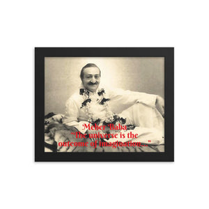 Framed poster - Meher Baba - I have come not to teach, but to awaken - Hinduism -  India IMAGES OF GOD