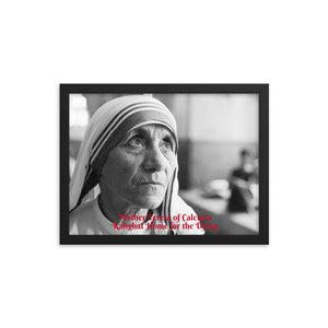 Framed poster - Mother Teresa of Calcutta - Saint - Catholic Church IMAGES OF GOD