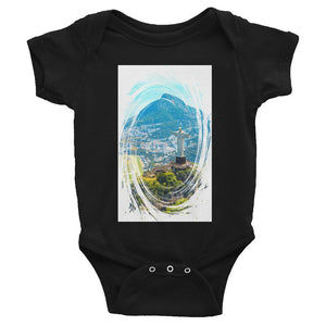 Infant Bodysuit -  Aerial view of Rio de Janeiro with Christ Redeemer Brazil and the  Virgin Mary of Guadalupe for a lot of blessings to your Baby! IMAGES OF GOD