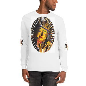 Long Sleeve T-Shirt - Clay sculptured image of buddha with gold in Gandan Monastery of Gelug Sect, Tibetan Buddhism, Lhasa. IMAGES OF GOD