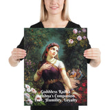 Poster - Goddess Radha - Companion of Krishna, symbol of Love, Humility and Loyalty IMAGES OF GOD