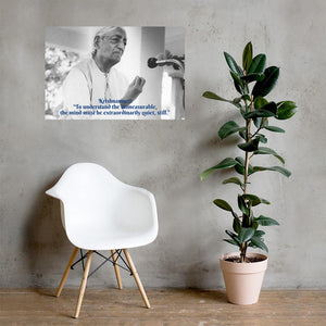 Poster - Jiddu Krishnamurti - Independent Spiritual Master - India IMAGES OF GOD
