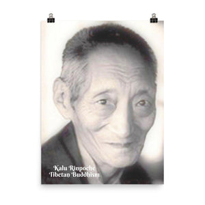 Poster - Kalu Rinpoche - Tibetan Buddhism IMAGES OF GOD