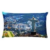 Premium Pillow - Awesome view of Rio de Janeiro with Christ Redeemer - Brazil - Christianity IMAGES OF GOD