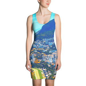 Sublimation Cut & Sew Dress - Awresome Aerial view of Rio de Janeiro with Christ Redeemer and Corcovado Mountain. Brazil. IMAGES OF GOD