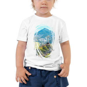 Toddler Short Sleeve Tee - Awesome Aerial view of Rio de Janeiro with Christ Redeemer - Christianity IMAGES OF GOD