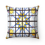 Faux Suede Square Pillow - Decoration Pattern - Grand Mosque in Kuwait City, Middle East - Islam
