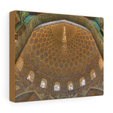 Printed in USA - Canvas Gallery Wraps - Inside the Sheikh Lutfallah Mosque - Isfahan, Iran - Islam