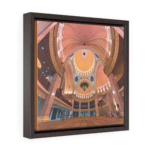 Square Framed Premium Canvas - Federal Territory Mosque - Malaysia Islam
