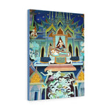 Printed in USA - Canvas Gallery Wraps - Painting on Temple wall on a Buddhist Thai temple, Thailand - Buddhism