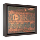 Horizontal Framed Premium Gallery Wrap Canvas -  Ancient  Egyptian Hieroglyphs - Egypt - Ancient religions