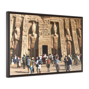 Horizontal Framed Premium Gallery Wrap Canvas -  Nefertari Temple in Abu Simbel,  Egypt - Ancient religions