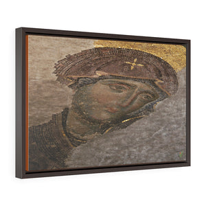 Horizontal Framed Premium Gallery Wrap Canvas - 11th century mosaic of Compassionate Virgin Mary - Hagia Sophia Mosque in Istanbul