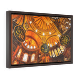 Horizontal Framed Premium Gallery Wrap Canvas - Magical Main dome of the Holy Hagia Sophia Mosque in Istanbul