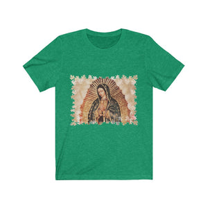 Unisex BELLA + CANVAS - Jersey Short Sleeve Tee - Nuestra Señora de Guadalupe O Virgen of Guadalupe - Mexico - Catholicism