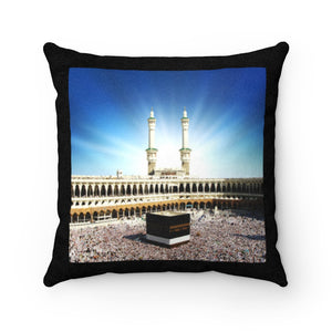 Faux Suede Square Pillow - Awesome and Glorious Mosque - Kaaba Mecca - Saudi Arabia - UAE