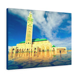 Printed in USA - Canvas Gallery Wraps - Exterior of Hassan II Mosque - CASABLANCA - Morocco, Africa Islam