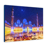 Printed in USA - Canvas Gallery Wraps - Sheikh Zayed Mosque - Capacity 122,000 - Islam religion - Abu Dhabi UAE