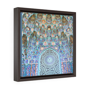 Square Framed Premium Canvas - St.Petersburg, Russia Mosque