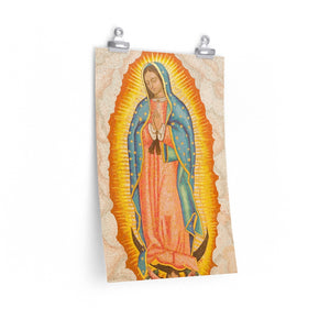 Posters de CALIDAD - Premium Matte vertical posters - Image of Virgen of Guadalupe from Israel - Mexico - Catholicism
