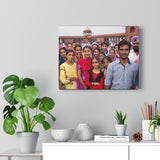 Printed in USA - Canvas Gallery Wraps - Group at Jama Masjid in Delhi India  - Capacity 25,000 - Islam