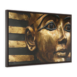 Horizontal Framed Premium Gallery Wrap Canvas - The Powerful Stare of King Tut - Egypt - Ancient religions