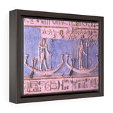 Horizontal Framed Premium Gallery Wrap Canvas - Amazing Egyptian Hyeroglyphs - Egypt - Ancient religions