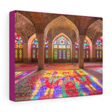 Printed in USA - Canvas Gallery Wraps - Nasir Al-Mulk Mosque in Shiraz, Iran, also known as Pink Mosque - Islam
