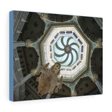 Printed in USA - Canvas Gallery Wraps -Decorated ceiling inside Moscow Cathedral Mosque, Russia - Islam
