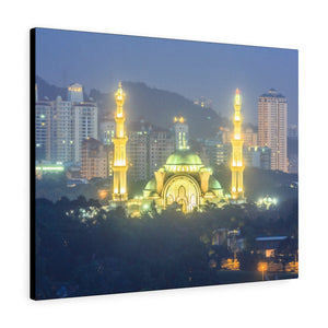 Printed in USA - Canvas Gallery Wraps - The Federal Territory Mosque in Kuala Lumpur, Malaysia - Islam