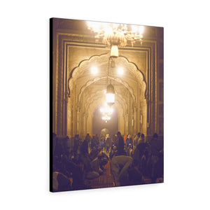 Printed in USA - Canvas Gallery Wraps - Muslims Praying at night . Badshahi Mosque, Lahore, Pakistan - Islam