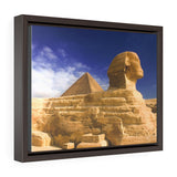 Horizontal Framed Premium Gallery Wrap Canvas - The Great Sphinx of Giza - Egypt - Ancient religions