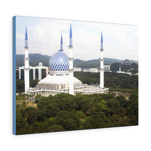 Printed in USA - Canvas Gallery Wraps - Blue Mosque, Shah Alam, Malaysia - Islam