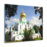 Printed in USA - Canvas Gallery Wraps - Feodorovsky Gosudarev Cathedral - an Orthodox church- Russia - Christianity
