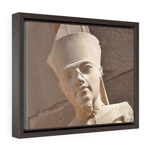 Horizontal Framed Premium Gallery Wrap Canvas -  King Tut - known as the Great God Amun in the Temple of Karnak in Luxor. Aswan, Egypt - Ancient religions